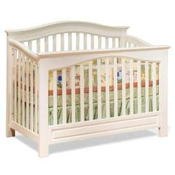Convertible Crib - Windsor Style White Finish