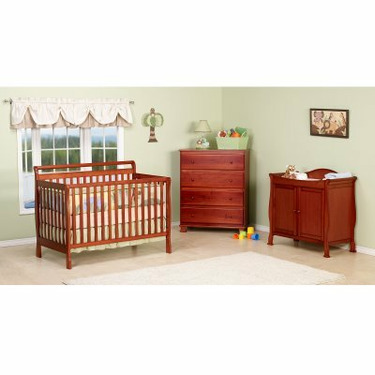 DaVinci Charleston 4-in-1 Convertible Baby Crib Collection Cherry - MDB113