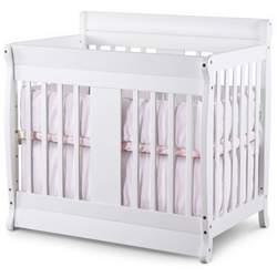 Nursery Smart Chelsea 2-in-1 Convertible Mini Baby Crib - NURS009