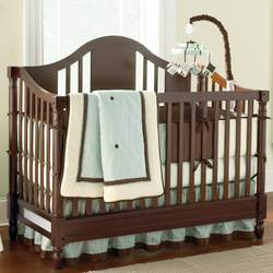 White Abby Crib By Savanna - Espresso, White