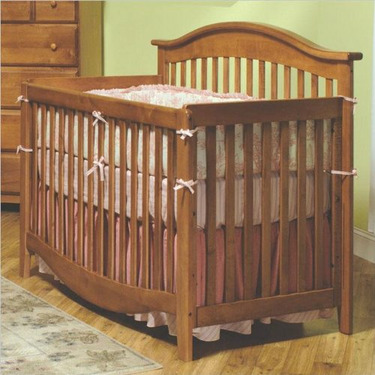 Simple & Elegant Convertible Crib - Pecan