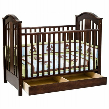 JCPenney Roxanne Crib by DaVinci - Antique White, Ebony, Espresso