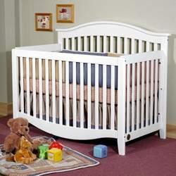 Simple & Elegant Convertible Crib - White