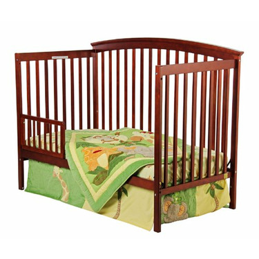 Dream On Me Eden 4 in 1 Convertible Crib, Cherry