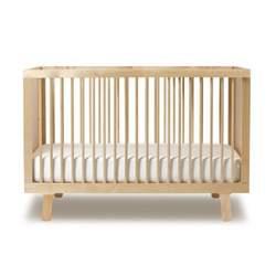 """Oeuf Sparrow Crib Birch - (53.5""""w X 29.5""""l X 36""""h, Birch)"""