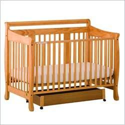 Stork Craft Heather Stages Honey Fixed Side Baby Crib