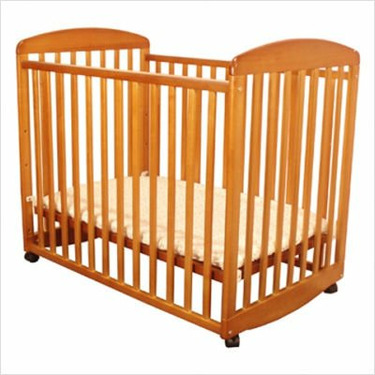 Athena Mya Mini Crib in Pecan