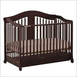 Stork Craft Rochester Stages Standard Wood Crib in Espresso