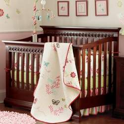 Savanna Cherry Finish Morgan Convertible Crib - Cherry, Espresso