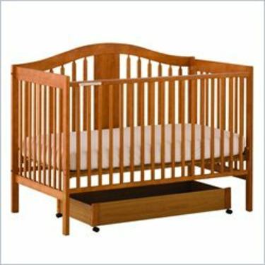 Stork Craft Chelsea 4-in-1 Convertible Wood Crib in Oak