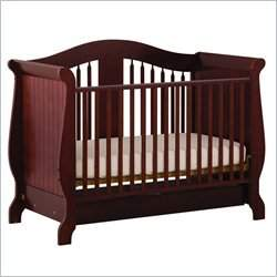 Stork Craft Aspen Stages Standard Wood Crib in Cherry
