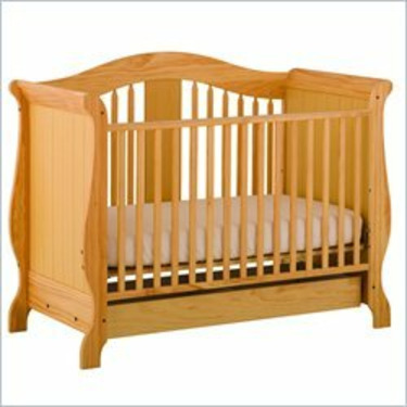 Stork Craft Aspen Stages Standard Wood Crib in Natural