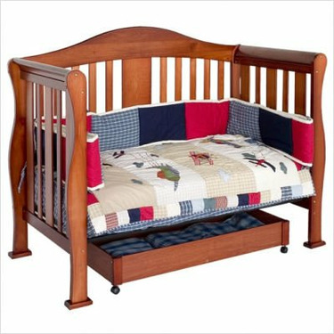 Parker 4-in-1 Convertible Crib - Cherry