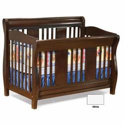White Atlantic Furniture Versailles 4-in-1 Convertible Wood Baby Crib