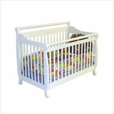 Dream On Me Liberty 4-in-1 Convertible Hardwood Crib in White