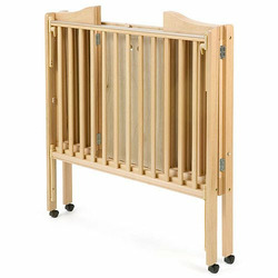 Folding 2-in-1 Portable Crib - White