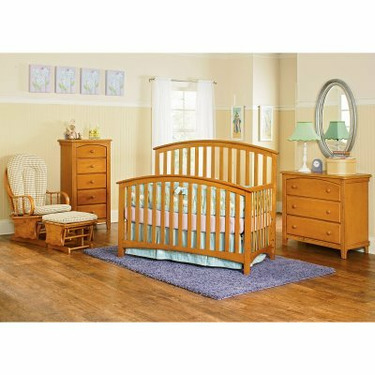 Bassettbaby Mission 4-in-1 Convertible Crib Collection White - BST031