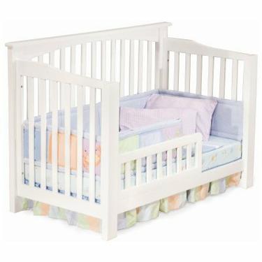 Atlantic Furniture Richmond 4-in-1 Convertible Baby Crib White - ATF293-1