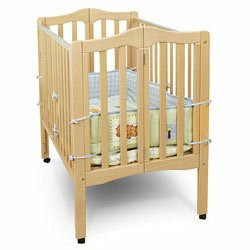 Folding 2-in-1 Portable Crib - Natural