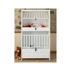 C-2 Two Infant Bunkie White Oak Stacked Crib
