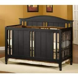 Distress Black Child Craft Watterson Convertible Wood Crib