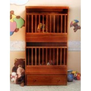 C-2 Two Infant Bunkie Cinnamon Oak Stackable Crib