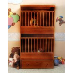 C-2 Two Infant Bunkie Cinnamon Oak Stackable Crib