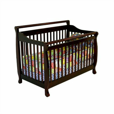 Dream On Me Liberty 4-in-1 Convertible Hard wood Crib in Cherry