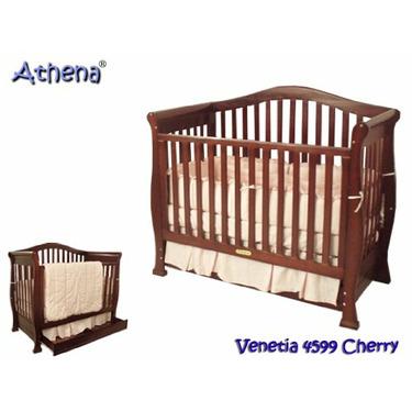 AFG Baby Furniture 4599AC Venetia 3-in-1 Crib - Cherry