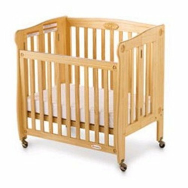 Foundations Royale Full-Size Drop-Side Folding Crib - Natural
