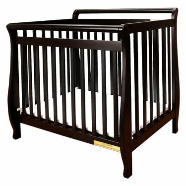 Athena Mini Amy Crib in Black