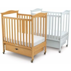Foundations 35-CC-N0 Biltmore Clearview Full-Size One hand Drop-Side Crib with Adj. Mattress Board (Mattress Not Included) - Natural