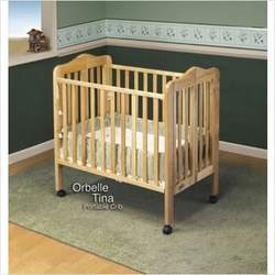 Orbelle Tina Three Level Portable Crib Natural