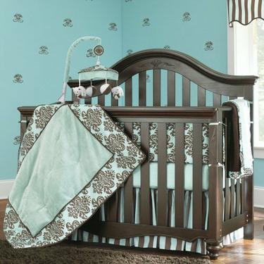 Bedford Baby Chocolate Finish Lily Convertible Crib