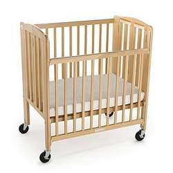 Foundations HideAway Compact-Size Standard Wood Crib in Natural