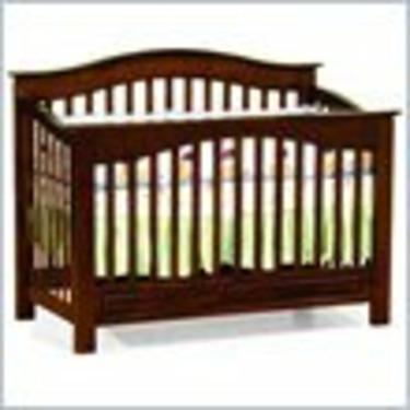 Atlantic Furniture Windsor 4-in-1 Convertible Wood Baby Crib