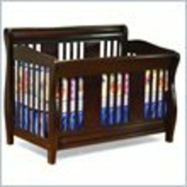 Atlantic Furniture Versailles 4-in-1 Convertible Wood Baby Crib