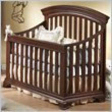 Natart Brighton Crib-to-Double Convertible Wood Crib in Cocoa