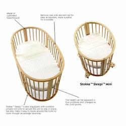Stokke Sleepi Convertible Wood Crib in Cherry