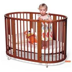 Stokke Sleepi Convertible Wood Crib in Cherry