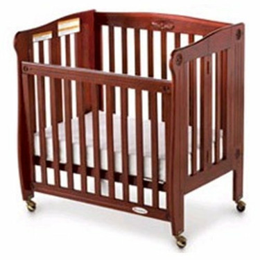 Foundations 55SSC4 Royale Full-Size Drop-Side Folding Crib - Cherry