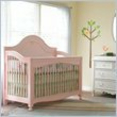 Young America Caroline Mix Match Convertible Wood Crib in Victorian White