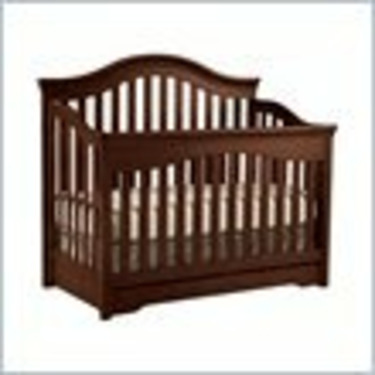 Young America Base Camp Mix Match Convertible Wood Crib in Rustic Cherry Heavy Antiqued