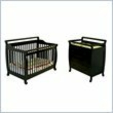 Dream On Me Liberty 4-in-1 Convertible Wood Crib Set in Black