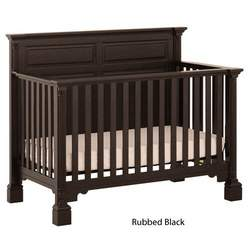 Status Series 400 Stages Convertible Crib Rubbled Black