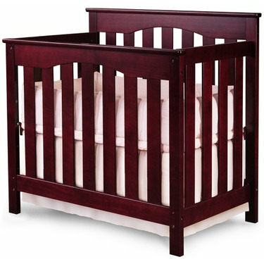 Ethan Mini Crib 2-in-1 Convertible in Cherry By Nursery Smart