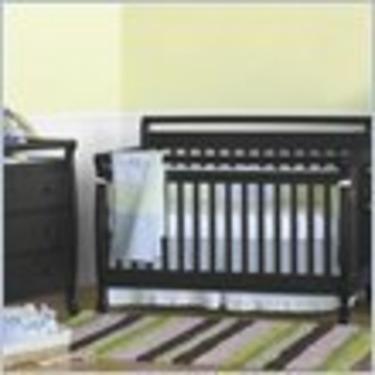 DaVinci Emily 4-in-1 Convertible Wood Baby Crib Nursery Set in Ebony