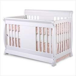 Nursery Smart 626-003-0102-W Chelsea 4-in-1 Convertible Crib in White