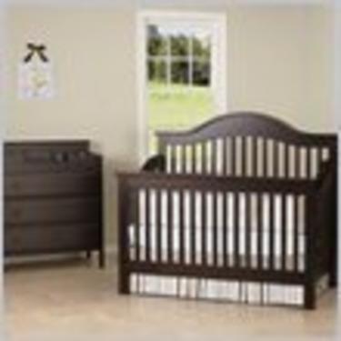 DaVinci Jayden 4-in-1 Convertible Wood Baby Crib Nursey Set in Epresso
