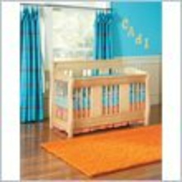 Atlantic Furniture Versailles 4-in-1 Convertible Baby Crib in Natural Maple